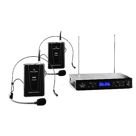 12 opinioni per Malone VHF- 400 Duo Set 2 Radiomicrofoni Wireless Senza Fili per Voce e Canto (2