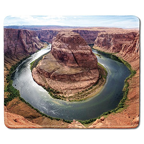 dealzEpic - Art Mousepad - Natural Rubber Mouse Pad Printed with Horseshoe Bend in Grand Canyon,Arizona - Stitched Edges - 9.5x7.9 inches (Best Shoes For Grand Canyon)