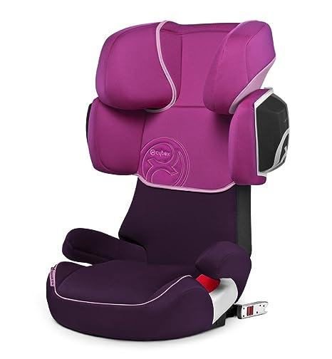 Cybex Solution X2-Fix - Silla de coche grupo 2/3 (12-36 kg, 3 años-12 años) con Isofix, Púrpura (Lollipop)