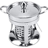 Chocolate Cheese Fondue Safety Burner Alcohol Stove Burner Mini Hot Pot for Outdoor Camping Panic Cooking JXAA Stainless Steel Fondue Burner