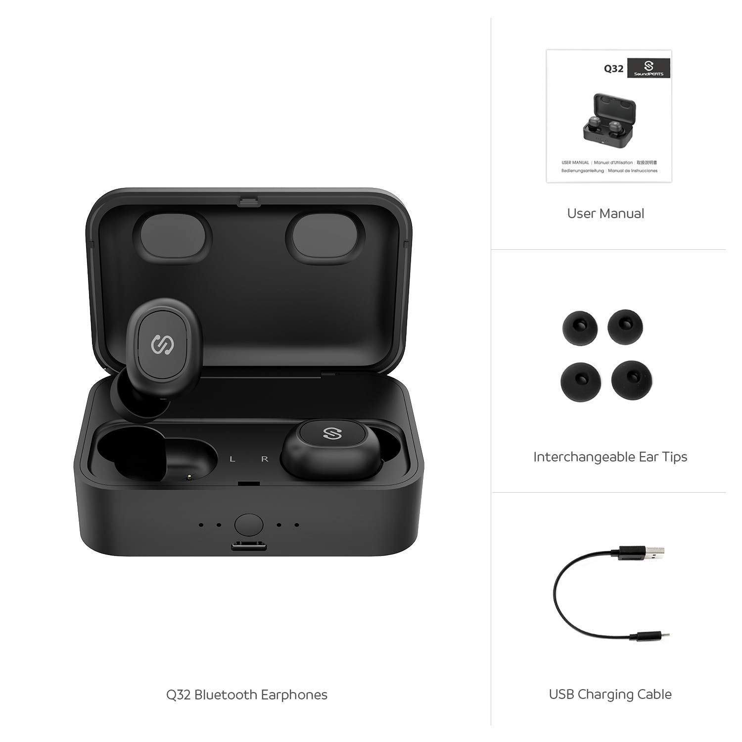 SoundPEATS True Wireless Bluetooth Earbuds in-Ear Stereo TWS Bluetooth Headphones Wireless Earphones (Bluetooth 5.0, 2600mAh Charging Case, 55 Hours Playtime, Built-in Mic) by SoundPEATS (Image #8)