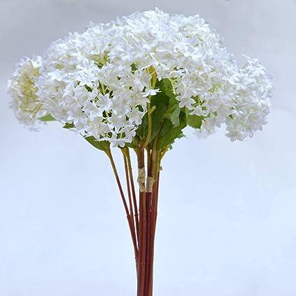 Amazon Fatcolo Mini Artificial Silk Flower Bouquet White 12