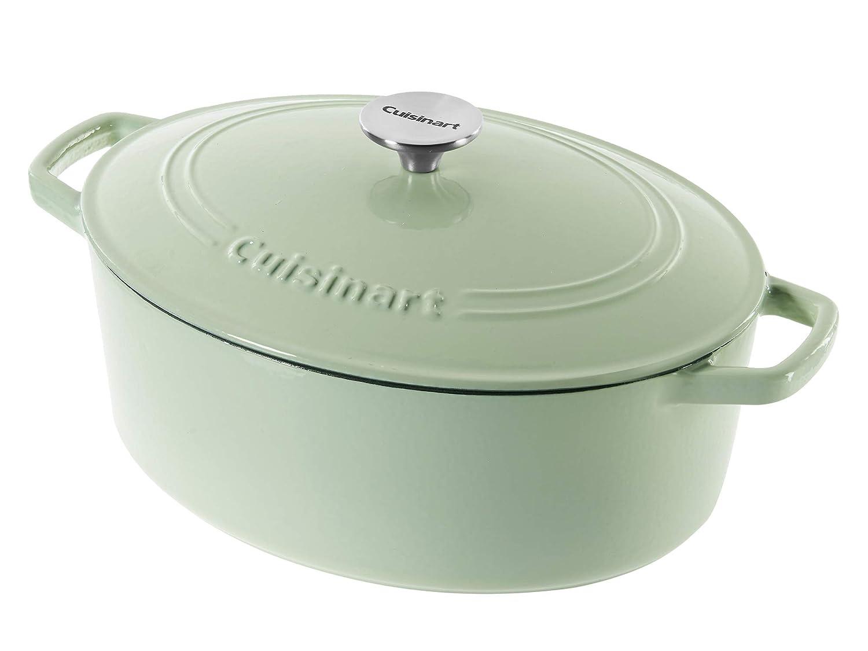 Cuisinart Cast Iron Casserole, Mint Green, 5.5 Quart