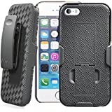 Minisuit Clipster Kick Stand Holster Case with Belt Clip for iPhone 5 / 5S - Black
