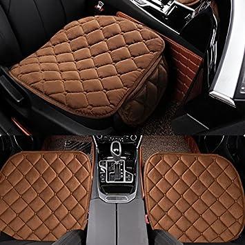HCMAX Weich Autositz/überzug Kissen Pad Matte Schutz f/ür Autozubeh/ör f/ür Limousine Flie/ßheck SUV 2 Packung Vordersitzbezug