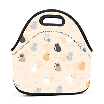 f3fac9ce8952 Amazon.com - Baby Cats Meow Lunch Bag Multi-Purpose Bento Pouch ...