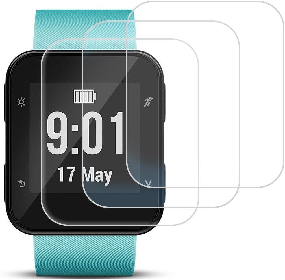 AFUNTA Protector de Pantalla para Garmin Forerunner 35, 3 Pack de película de Vidrio Templado Anti-Scratch de Alta definición Cubierta de Cobertura Completa para Smartwatch