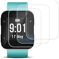 Screen Protector for Garmin Forerunner 35, AFUNTA 3 Pack Tempered Glass Film Anti-Scratch High Definition Full Coverage Cover for Smartwatch