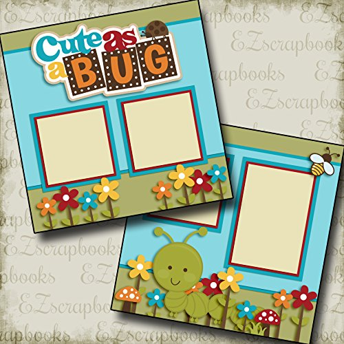 CUTE AS A BUG BOY - Premade Scrapbook Pages - EZ Layout 2486