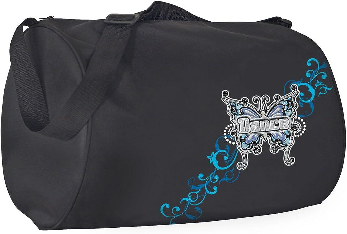 Horizon Dance 1040 Flutterby Large Duffel Dance Bag for Girls Black