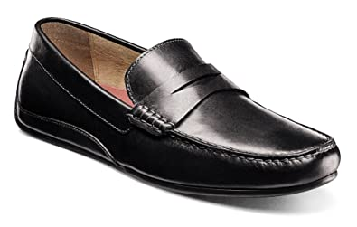 Florsheim Men's Oval Penny Driver Black Smooth Loafer