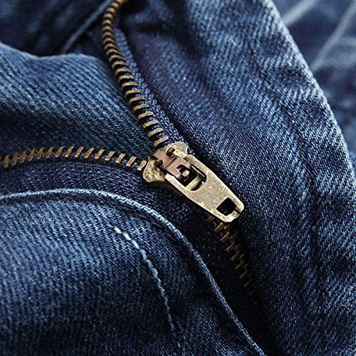 A Vita Eleganti Denim Blu Larghi Jeans Dritto Pantaloni Uomo Strappati Fit In Slim Bassa Abbigliamento Da qq0CwUz