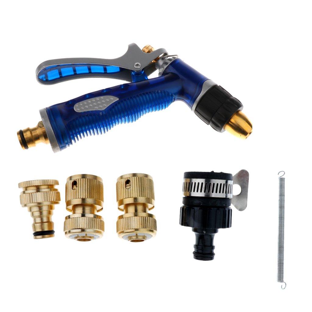 MagiDeal High Pressure Washer Sprayer Nozzle Car Furniture Washing Garden - Blue