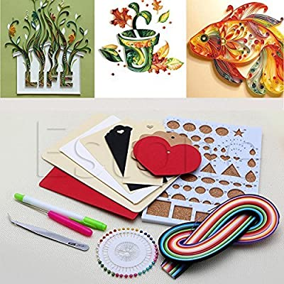 Zadaro 150 Strips Paper Quilling DIY Craft Kit Board Mould Stright Pin Tweezer Paper Craft Sets For Kid Scrapbooking