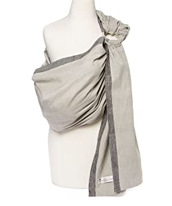 Hip Baby Wrap Ring Sling Baby Carrier for Infants and Toddlers (Slate)