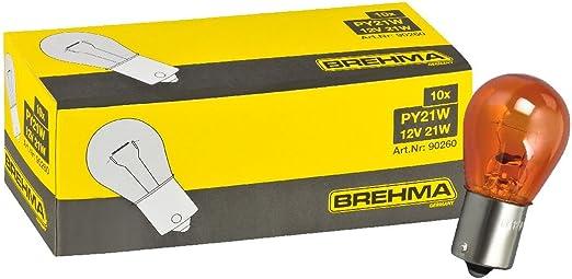 Brehma 10x Py21w Blinkerlampe Blinkerbirne 12v Orange Gelbe Kugel Lampe Bau15s Auto