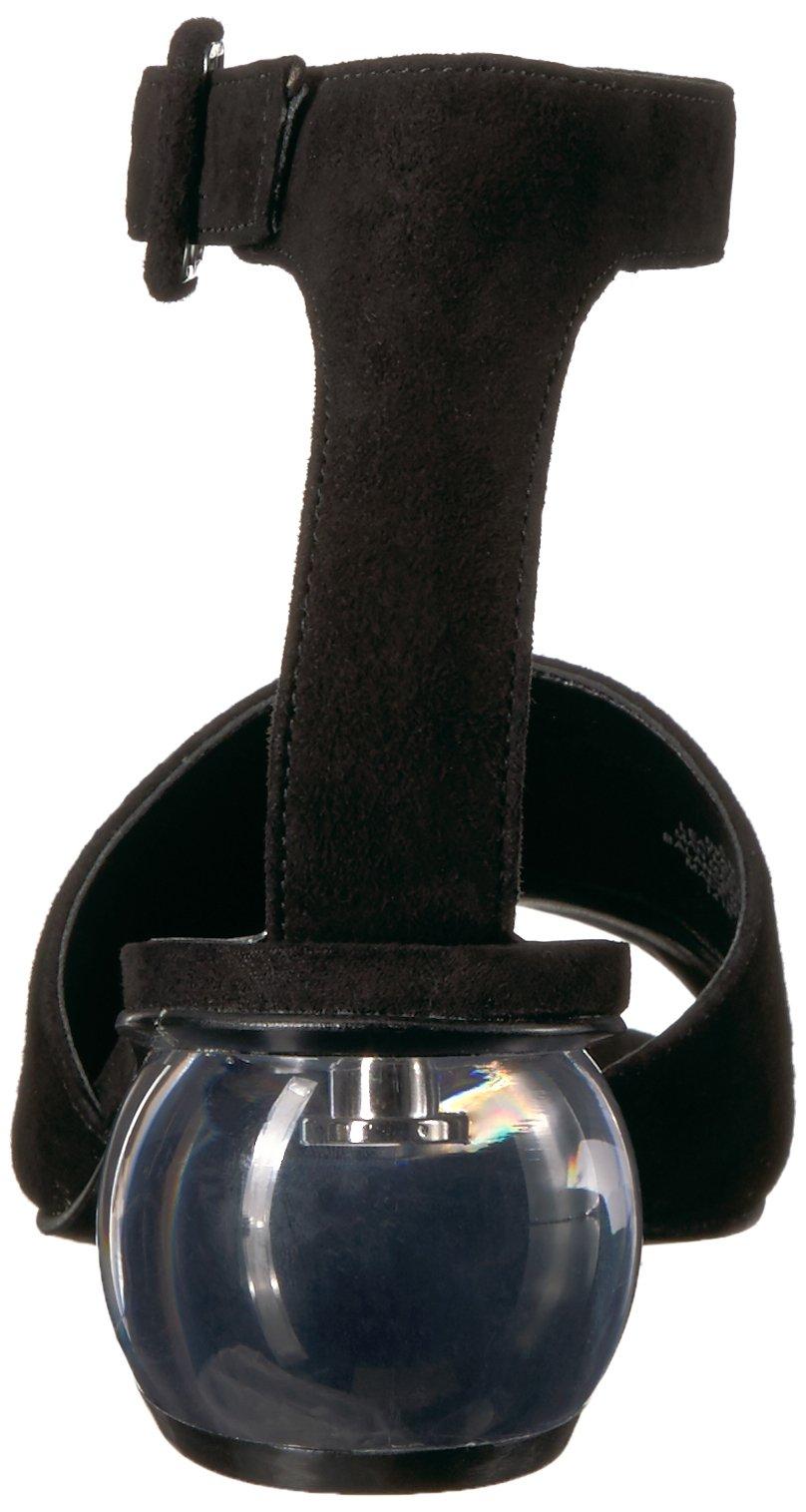 Nine West Women's Enyo Suede Heeled Sandal, Black Suede, 6.5 M US by Nine West (Image #2)