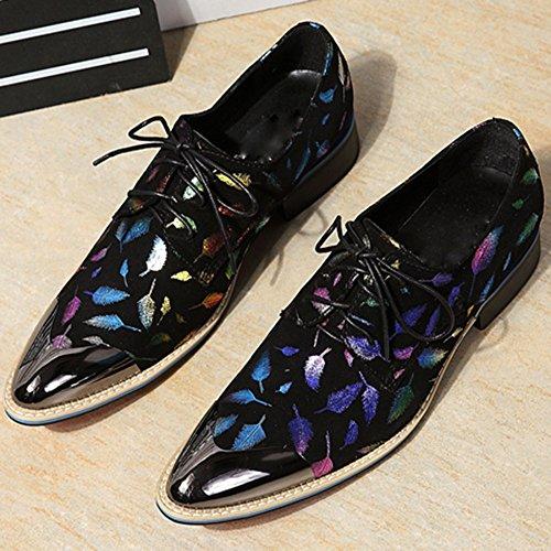 Chaussures à Lacets Pour Hommes Chaussures Pour Stylistes De Cheveux Mode Personnalité Mode Black EUqgf4ob