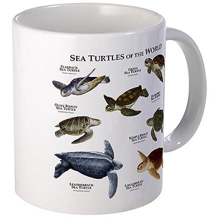 e4073fbd8cb CafePress - Sea Turtles Of The World Mug - Unique Coffee Mug, Coffee Cup