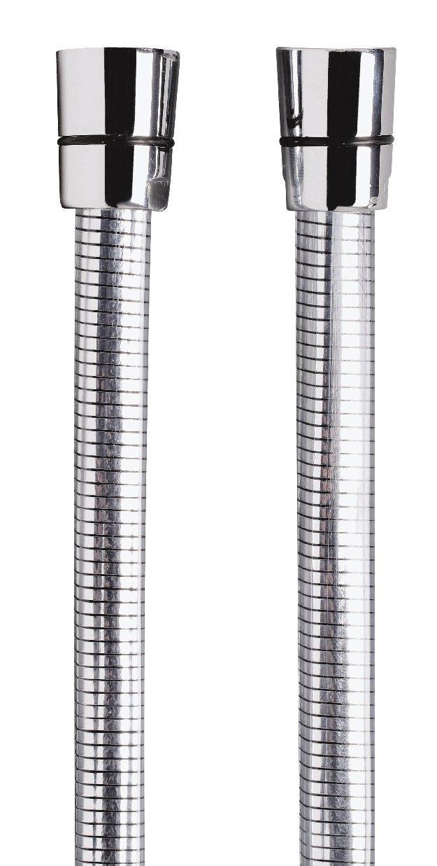 Brauseschlauch | Duschschlauch | Kunststoff | chrom-transparent | Beidseitig mit Konus | 2m | 1/2 Zoll x 1/2 Zoll AquaSu 72559 0
