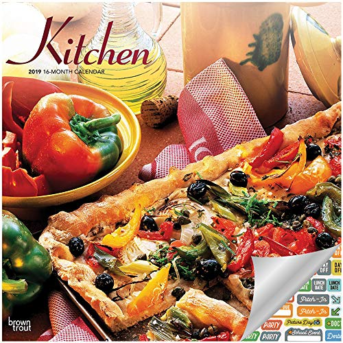 Kitchen Calendar 2019 Set - Deluxe 2019 Kitchen Wall Calendar with Over 100 Calendar Stickers (Kitchen Gifts, Office Supplies) (Calendar Food)