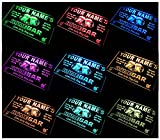 AdvPro Custom Multi Color p-tm-c Name Personalized Custom Home Bar LED Neon Sign with Remote Control, 20 Colors, 19 Dynamic Modes, Speed & Brightness Adjustable, Demo Mode 16'' x 12''