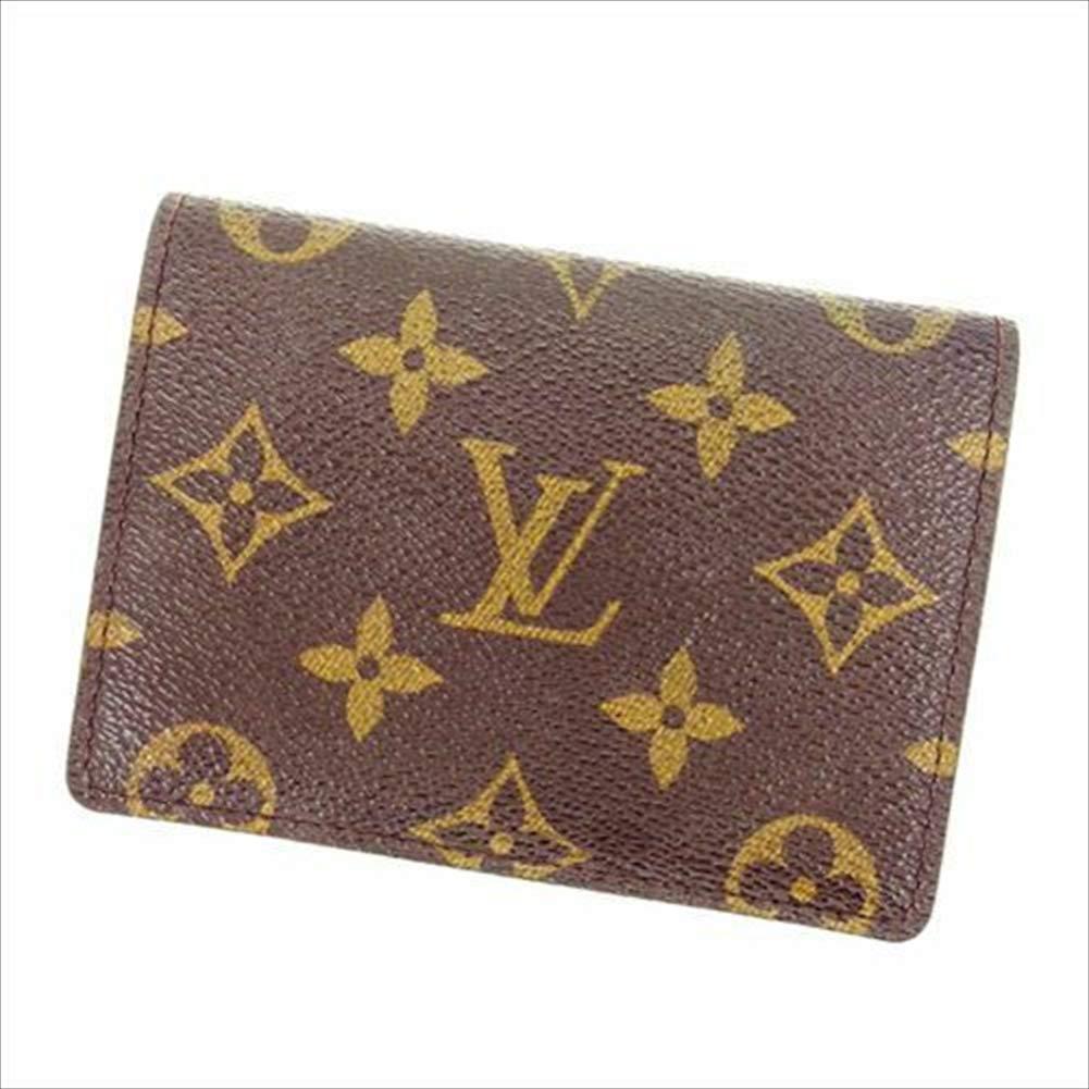ルイヴィトン Louis Vuitton 定期入れ パスケース メンズ可 ポルト2カルトヴェルティカル M60533 モノグラム 中古 T15129   B07R78TW88