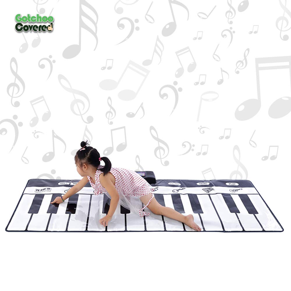 Gotchoo covered Musical Piano Play Mat - Great Way for Activity‏ & Learning, Toy-Educational for Toddlers to Learn Music Jumbo Sized Dance Keyboard mat with 24 Keys Piano Play- Multiple Instruments by Gotchoo covered (Image #2)