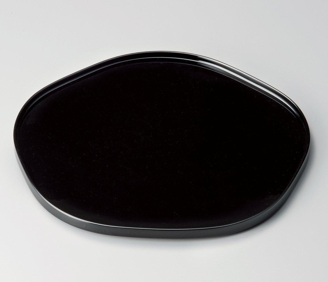 【越前漆器】雅乃 尺2梅形膳 黒   B076NN4B71