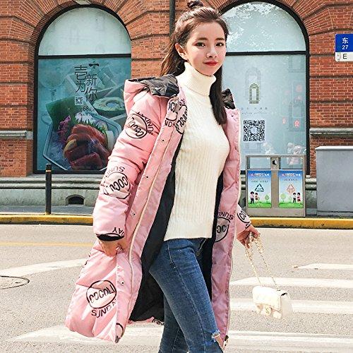 Xuanku Winter Coats Women 'S Cotton Coats Long Coats Pink
