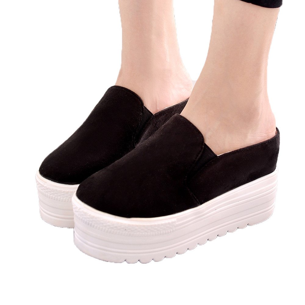 Sandals For Womens Clearance Sale ,Farjing Women Leisure Shoes Fish Mouth Sandals Thick Bottom Slippers Sponge Cake Sandals (US:7,Black)