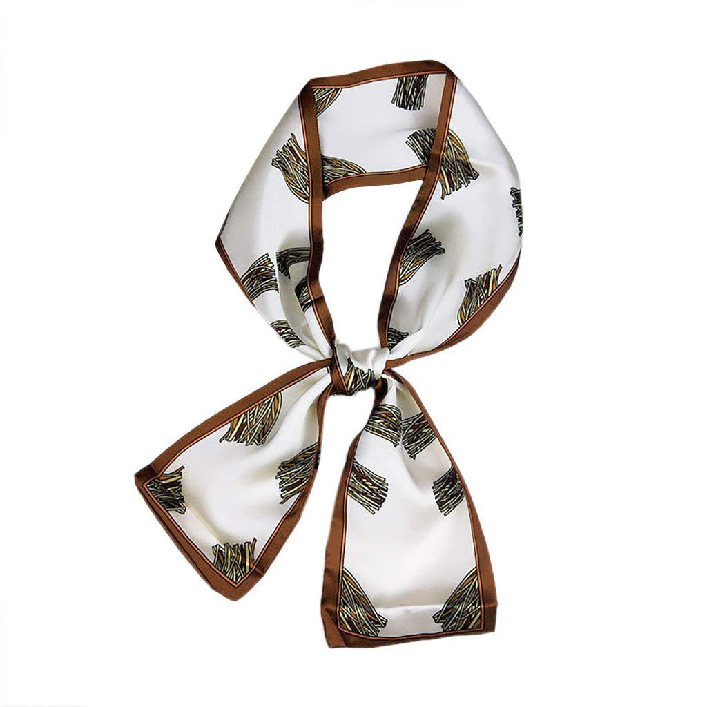 Fashion Women Neck Scarf Vintage Square Head Scarf Wraps Scarves Printed Kerchief