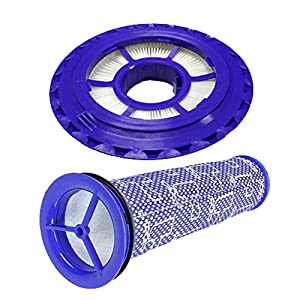 Amyehouse Hepa Post Filter & Pre Filter Replacement for Dyson DC41, DC65, DC66 Animal, Multi Floor and Ball Vacuums. Replaces Part # 920769-01 & 920640-01