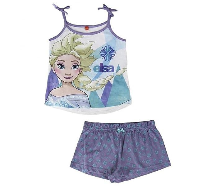 d4318a73d594ac Pigiama Estivo Cotone FROZEN ELSA per Bambina 3 - 7 anni Tshirt e  Pantaloncino Fair ShopOnline