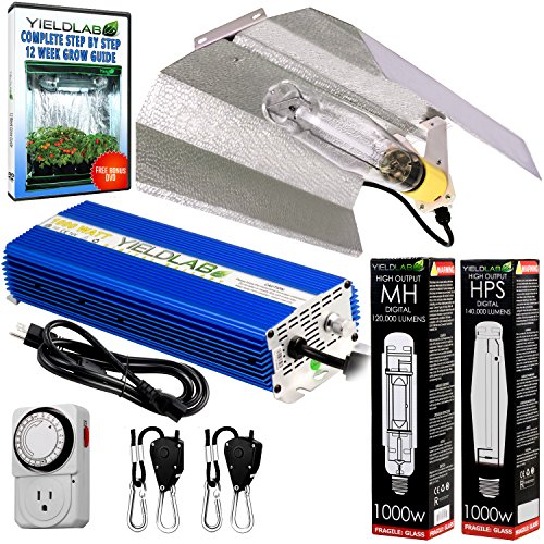 Yield Lab 1000w HPS+MH Wing Reflector Digital Grow Light Kit by Yield Lab