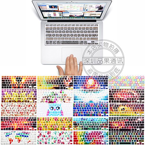"""Price comparison product image Coosybo - US type Laptop Silicone Protective Keyboard Cover Skin Protection Sticker for 13.3"""" 15.4"""" 17"""" Apple Mac MacBook Air Pro with Retina 13 15 inch / Imac G6 (1c0b95 1)"""