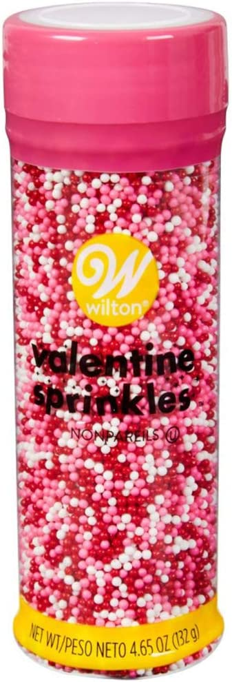 Food Items SPRINKLE MIX VDAY NONPA, us:one size, Pink, Red, White