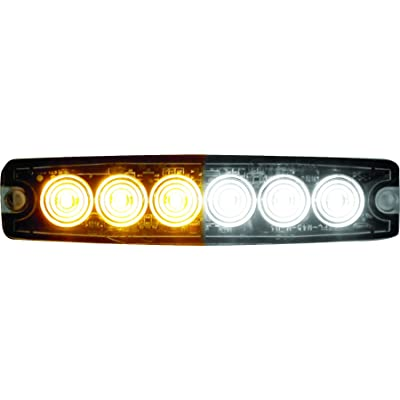 Buyers Products 8892202 Amber/Clear 6 LED Strobe Light (5-1/8in): Automotive