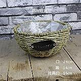 EXDJ Handmade wicker flower Basket hanging basket flower pot rattan flower pot hanging basket,A