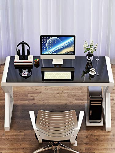 Computer Desk Table Household Simple Modern Economic Desk Simple toughened Glass Computer Desk Learning Table