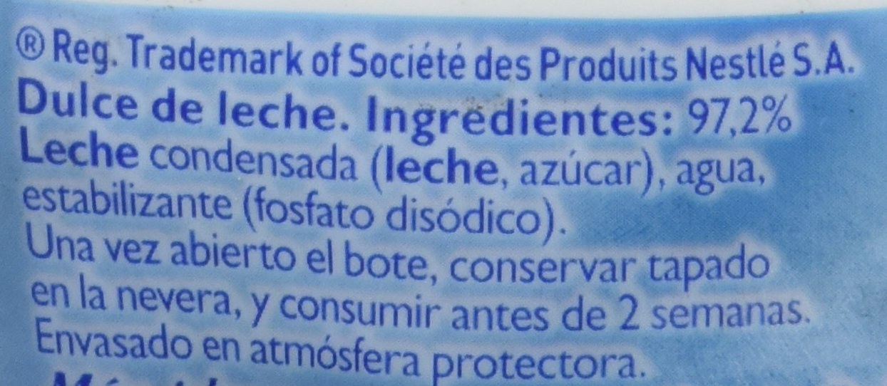 Nestlé La Lechera Dulce de Leche - 450 gr