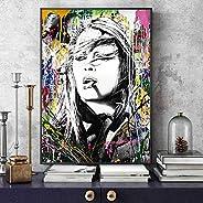 VinMea Póster de Harry Styles con estrellas musicales y impresiones artísticas de pared, arte moderno, lienzo