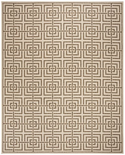 Safavieh LND128C-8 Linden Collection Area Rug, 8' x 10', Cream/Beige