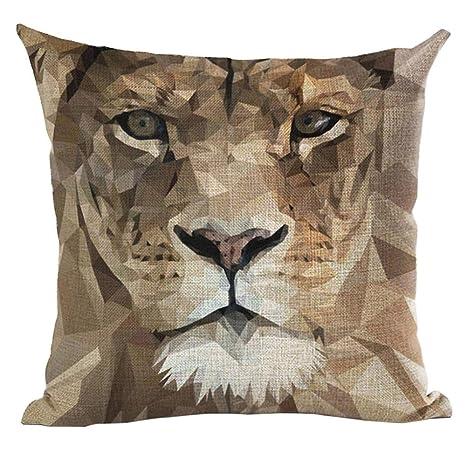 Tiger perro Animal pintura al óleo estilo funda para cojín ...