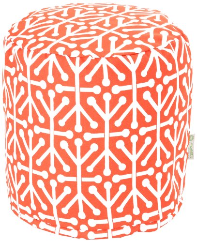 Majestic Home Goods Aruba Pouf, Small, Orange (Outlet Cushions Patio)