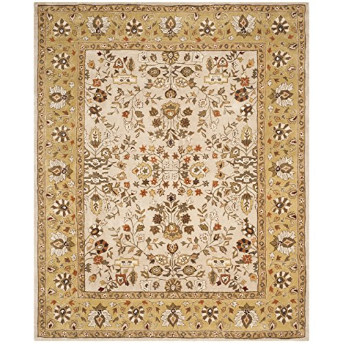 Ivory Gold Area Rugs (Safavieh Total Perform Collection TLP721A Hand-Hooked Ivory and Gold Area Rug (6' x 9'))