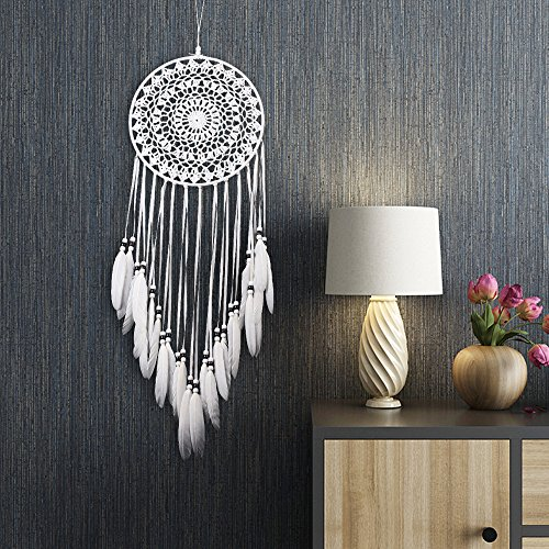 "Karleksliv creative white big Decorative Dream Catchers Aircraft for Business Gifts Sweet dream for newborn baby gifts Circle diameter: 7.87 Whole Length:29.52"" MS6133"