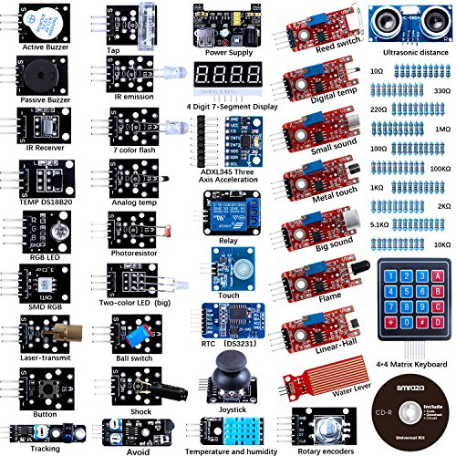 Sensor Modules Kit - 37 in 1 with Detailed Tutorial for Arduino UNO R3 Mega2560 NANO