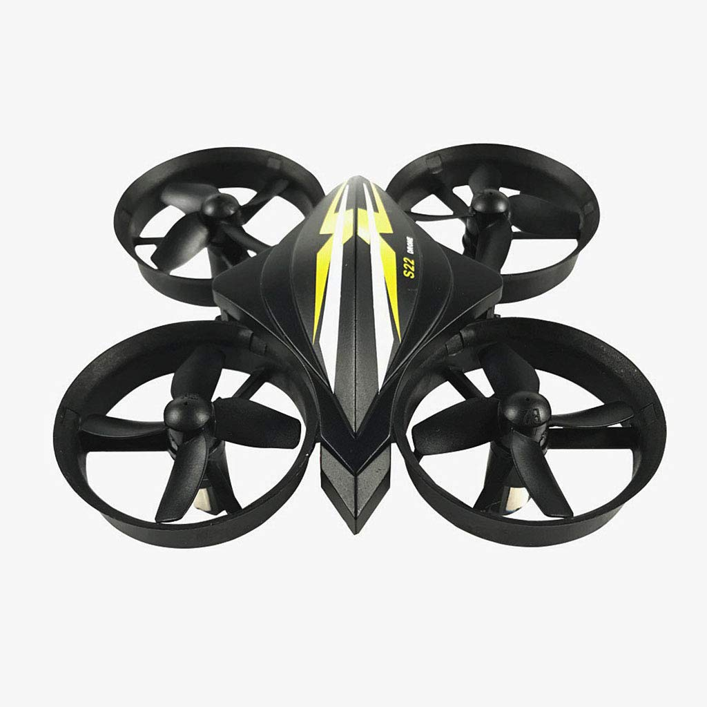ICCQ S22 Mini RC Drone Quadcopter 2.4G 6-Axis Gyro Headless Mode One Key Return RC Helicopter Toys for Kids (Black) by ICCQ
