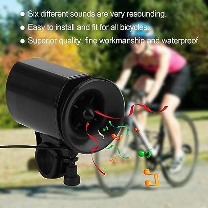 6 Sounds Cycling Bell for Bike Electronic Loud Alarm Siren Ultra-loud Bike Horn